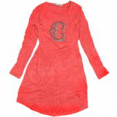 Carbone bequemes Kleid Tunika Rot