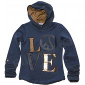 Carbone LA-Shirt Sweat Kapuze Love Navy Blau