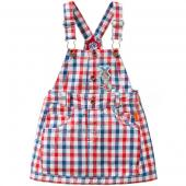Oilily Kleid Druppel pinafore Dress Karo Weiß