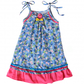 Char Kleid Sascha Dress Flower Muster Blau