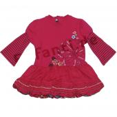 Catimini robe a manches Kleid framboise Rot