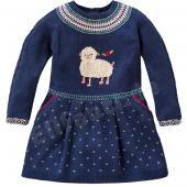 Oilily Kleid Kozzy Jaquard-Dress Schaf Blau