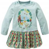 Oilily Kleid Tracy Jersey-Dress Tiere Türkis