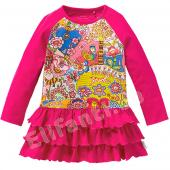 Oilily Kleid Turtle Jersey-Dress Volants Pink