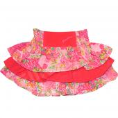 Pampolina Rock Skirt Volants Flower Rosa