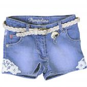 Pampolina tolle Jeans-Short Spitze Blau