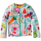 Oilily Jersey Tjeese Cardigan picknick Türkis