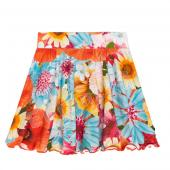 Cakewalk bequemer Rock Taber Skirt Flower Blau