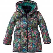 Oilily Coat Curtisl Mantel Flower blue Blau