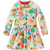 Oilily Trudy Dress Kleid Bucher Print Grün-Blau