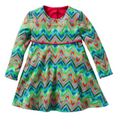 Oilily Tineke Dress Kleid zigzag Design Grün