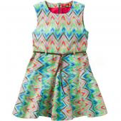 Oilily Disa Dress Kleid Zigzag Design Green