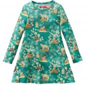 Oilily Talomah Dress Kleid Fuchs Grün-Blau