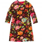 Oilily Totz Dress Kleid Flower Print Bunt Braun