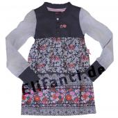 Cakewalk Tunika Kleid Blumen Grey Iron Grau